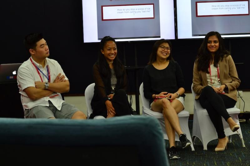 Alumni panel at Checkpoints 2 Salon
