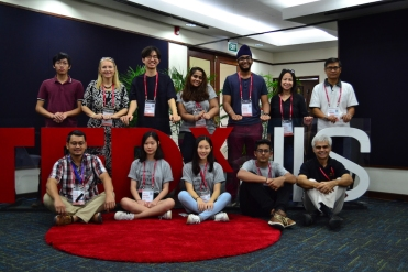 TEDxJIS Organizers at Checkpoints 2 Salon