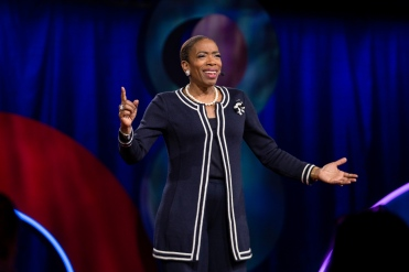 Carla Harris at TEDWomen 2018 in Palm Springs, California. (Photo: Marla Aufmuth / TED)