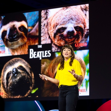 Lucy Cooke at TEDWomen 2018 in Palm Springs, California. (Photo: Callie Giovanna / TED)