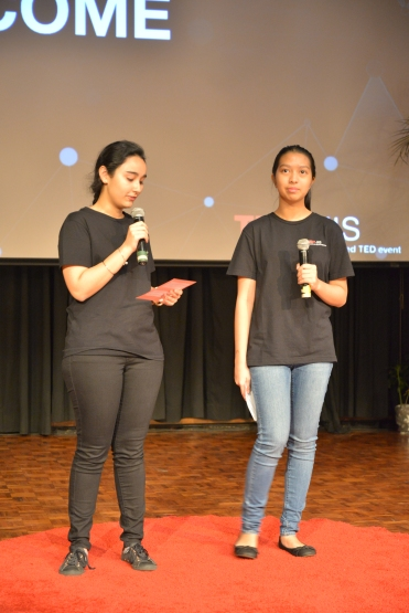 Sargun and Leaena co-hosted the event