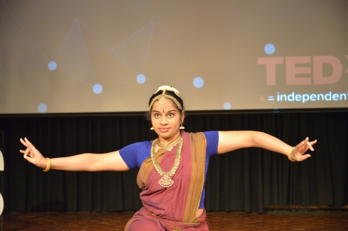 Sadhvika (Grade 12) talked about Bharatanatyam dance