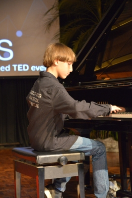 Adam (Grade 6) played two piano pieces