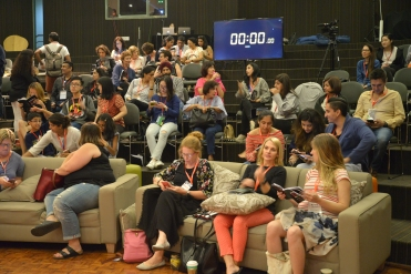 Attendees awaiting the talks